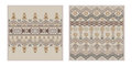 Vector set of two seamless patterns. Ethnic tribal geometric texture Royalty Free Stock Photo