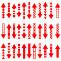 A vector set of useful red arrows. Royalty Free Stock Photos