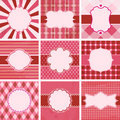 Vector set of valentine's day. Royalty Free Stock Images