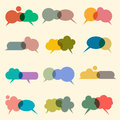 Vector set of various bubbles for speech Royalty Free Stock Photos