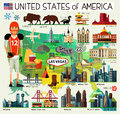 Vector Set of Various United States of America skyline Icons