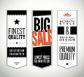 Vector set of vertical vintage labels and banners Royalty Free Stock Image