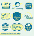 Vector Set: Vintage Astronomy Class Labels Royalty Free Stock Photo