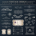 Vector set vintage. Calligraphic design elements and page decora Royalty Free Stock Photo