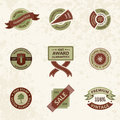 Vector set vintage decor elements. ribbon stamps Stock Photo
