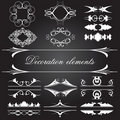 Vector set of vintage decoration elements Royalty Free Stock Photos
