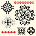 Vector set of vintage floral pattern elements Royalty Free Stock Images