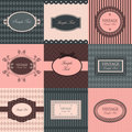 Vector set of vintage frames Stock Photos
