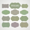 Vector set vintage labels and frame. Vector Royalty Free Stock Photo