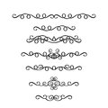 Vector set of vintage ornaments in Victorian style