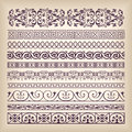 Vector set vintage ornate border frame with retro ornament pattern in antique baroque style. Arabic decorative calligraphy design