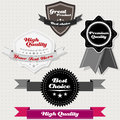 Vector set vintage premium high quality labels Stock Image