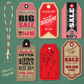 Vector set of Vintage Style Sale Tags Stock Image