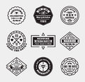 Vector set of vintage wedding badges, sings, logos. Royalty Free Stock Photo