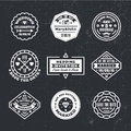 Vector set of vintage wedding badges, sings, logos. Royalty Free Stock Photo