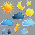 Vector Set weather icon Stock Photography