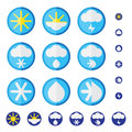 Vector set of weather icons in flat design.