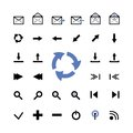Vector set of web icons in different directions Royalty Free Stock Images