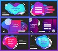 Vector set of web page design templates for business