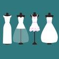 Vector Set Of Wedding Dresses ...