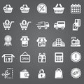 Vector set illustration collection of modern icons in flat design Shopping and e-commerce Isolated web Royalty Free Stock Photo