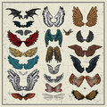 Vector set of wings Stock Images