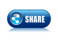 Vector share button on white background Royalty Free Stock Photo