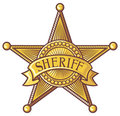 Vector sheriff's shield Royalty Free Stock Photography