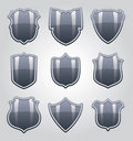 Vector shields Royalty Free Stock Photos