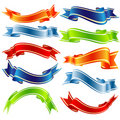 Vector shiny ribbons Royalty Free Stock Photo