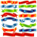 Vector shiny ribbons Royalty Free Stock Photography