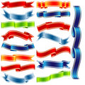 Vector shiny ribbons Stock Photo