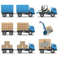 Vector shipment icons set on white background Royalty Free Stock Photography