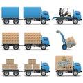 Vector shipment icons set 5 Royalty Free Stock Photo