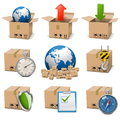 Vector shipment icons set on white background Stock Image
