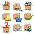 Vector shipment icons set on white background Royalty Free Stock Photos