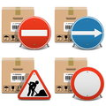Vector shipment icons set on white background Stock Images
