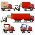 Vector Shipment Icons Set 34 Royalty Free Stock Photo