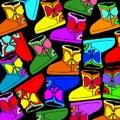 Vector shoes fur suede sole color