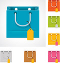 Vector shopping bag Stock Photo