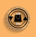 Vector shopping bag icon modern flat design this is file of eps format Royalty Free Stock Images