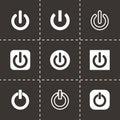 Vector shut down icon set Royalty Free Stock Photo