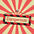Vector sign dangerous for use Stock Images