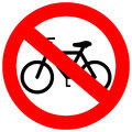Vector sign no bicycle on white Stock Images