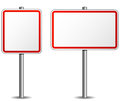 Vector signpost illustration of empty on white background Stock Image