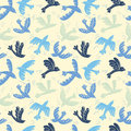 Vector silhouette flying birds seamless pattern
