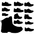 Vector silhouette of shoe. Royalty Free Stock Photo