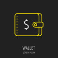 Vector Simple Logo Template Wallet