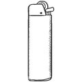 Vector Single Sketch Disposable Lighter Royalty Free Stock Photo