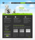 Vector site with a bag of dollars for Business Royalty Free Stock Image